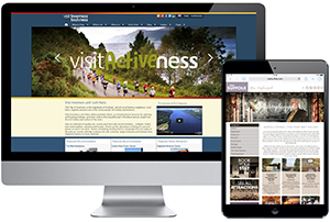 Examples of websites built by NVG - visitinvernesslochness.com and visitsuffolk.com